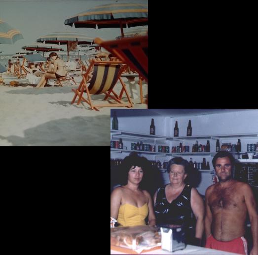 Bagno Pomposa 1980 Spiaggia Mare Ombrellone