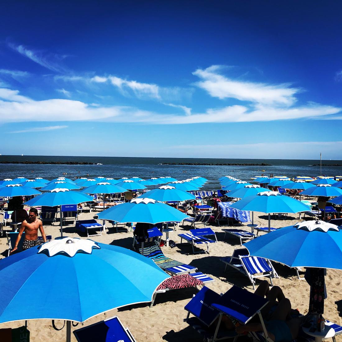 Bagno Pomposa Spiaggia Mare Ombrelloni